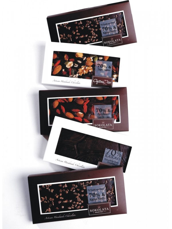 5 Chocolate Bars 100g 70% Cocoa [#17-15]
