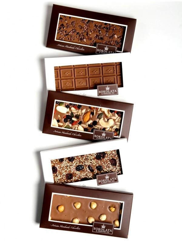 5 Organic Chocolate Bars 100g [#17-40]