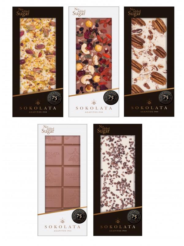 5 Σοκολάτες Χωρίς Πρόσθετη Ζάχαρη 100g [#17-31]